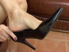 Cum In High Heels Shoe