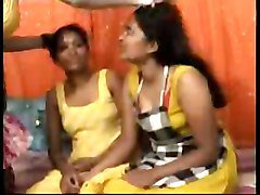 Desi, Indian, twosome to lesbian threesome
