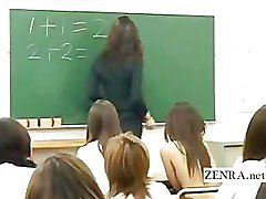Shy Japanese student strips nude in front of classmates