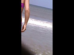 sexy beach teen jiggly ass spy 53