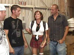 Gangbang With Milf In Schoolgirl Uniform...usb
