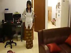 kebaya clad babe from indonesia strips