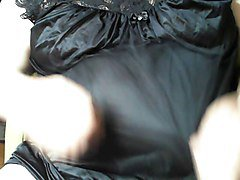 mature panty sissy in black panties and gown