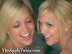 beautiful erotic twin sisters. strip tease and kiss. sexy lesbian twins.