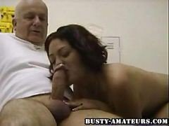 Hot Drew Blowing Old Cock