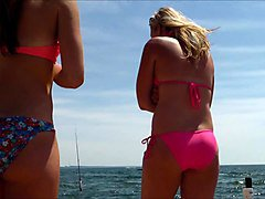 candid beach bikini ass butt west michigan booty fishing