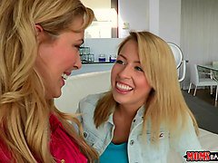 moms bang teen - stepmom and stepdaughter have some fun