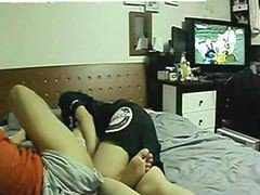 Student Couple Alone At Home Making Sex