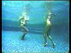 karen white underwater pantyhose stripped off