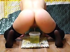 russian girl pissing. pissing, hairy pussy