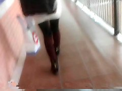 sexy greek student with mini skirt nylons and sexy socks