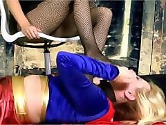 supergirl foot slave f/f foot worship