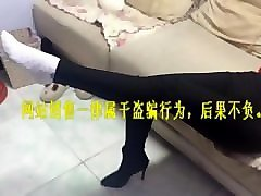 chinese footjob with socks
