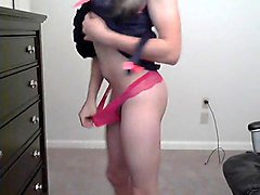 teen crossdresser striptease