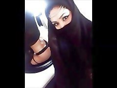 the best arab hijab niqab cumpilation