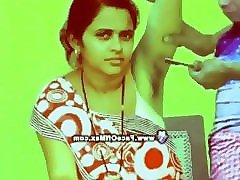 poonam gets her hairy armpits shaved by straight razor at her home clean...