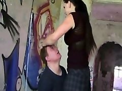 mistress diana 182cm. without heels brutal faceslapping male