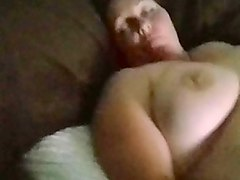 brunette young babe with hairy holes fucking her pussy and ass with a dildo