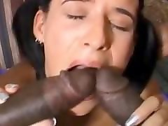 exotic girlfriend handjob session in porn audition