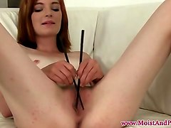 captivating and hot redhead with huge natural breasts
