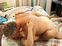 two masseuses drilled by nasty client on nuru massage bed