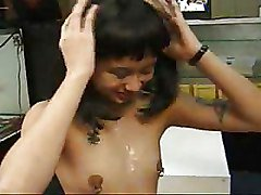 Tattooed Girl Gives Bj