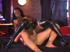 Jada Leather And Latex Anal Pounding