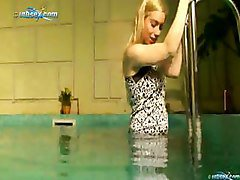 Aletta Underwater Masturbation At The Hotels Pool