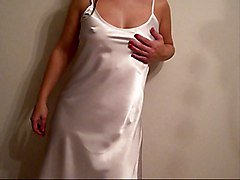 New Liquid Satin Long Night Dress