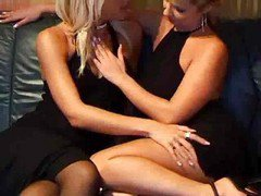 Black  Dresses With Lesbian Seduction...f70